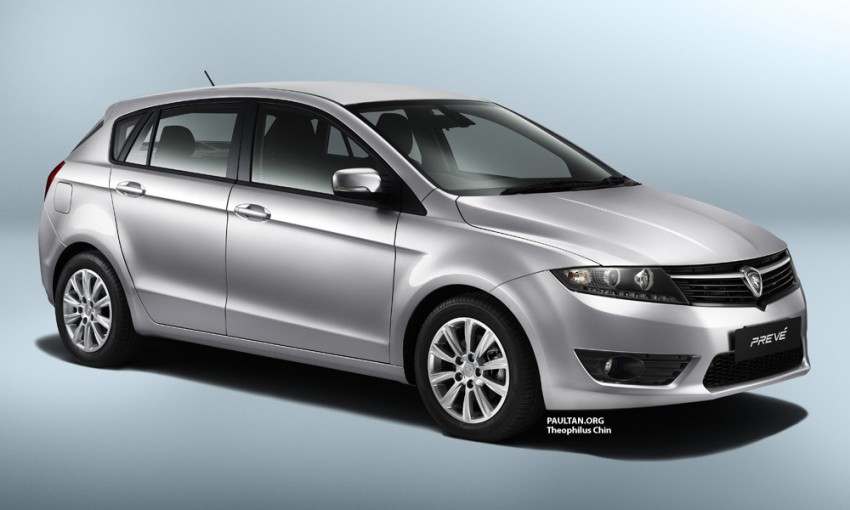 Proton Prevé – rendering of the P3-22A hatchback Image #101393