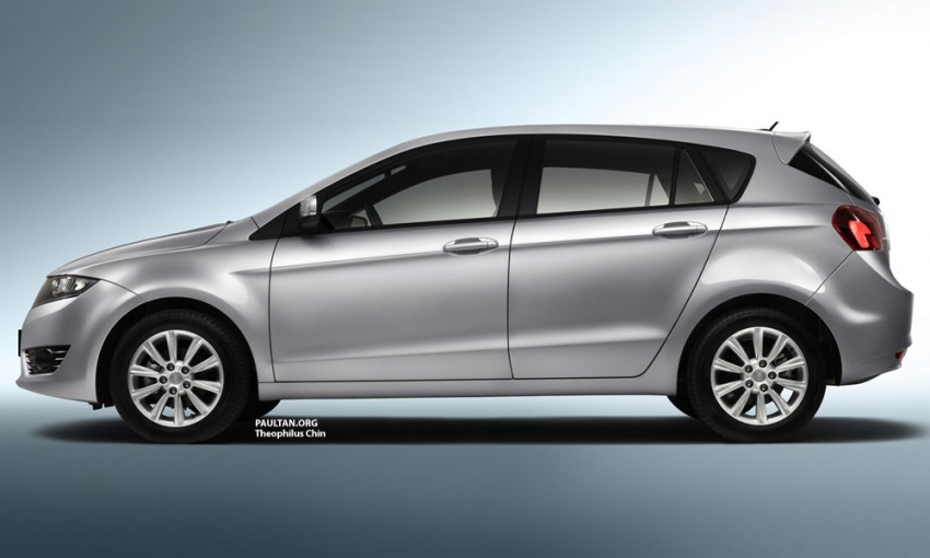 Proton Prevé – rendering of the P3-22A hatchback Image #101394