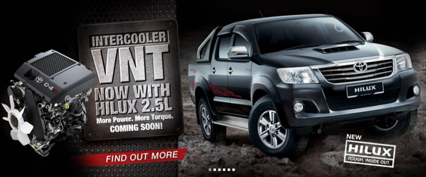 Toyota Hilux and Fortuner – 2.5L VNT D-4D intercooled engine 2012 MY versions coming, order books open Image #125084