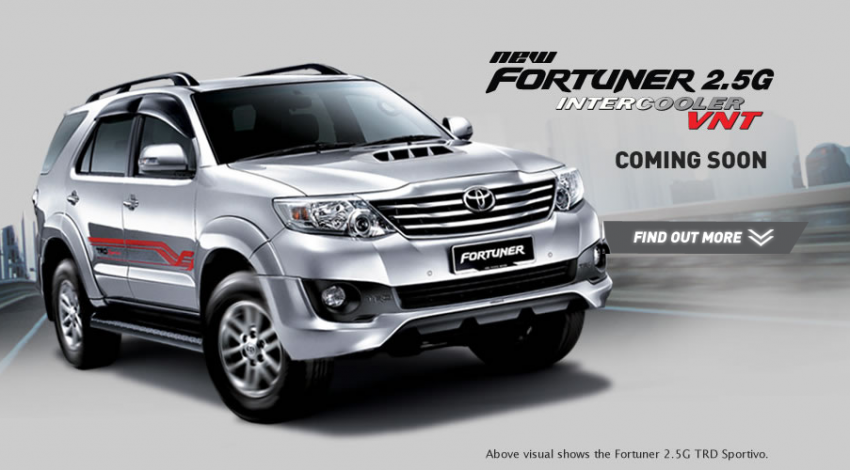 Toyota Hilux and Fortuner – 2.5L VNT D-4D intercooled engine 2012 MY versions coming, order books open Image #125083