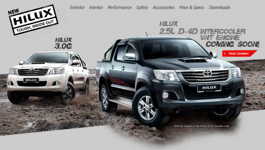 Toyota Hilux and Fortuner – 2.5L VNT D-4D intercooled engine 2012 MY versions coming, order books open Image #125081
