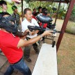 Shell Helix Get Your Heart Racing Contest Finalists shooting paintball targets