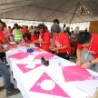 Shell Helix contest finalists assembling kites in one of the challenges