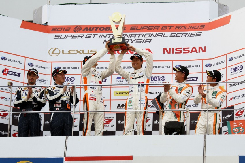 Autobacs Super GT 2012 Round 3: Weider HSV-010 and Hankook Porsche win from pole position Image #112001