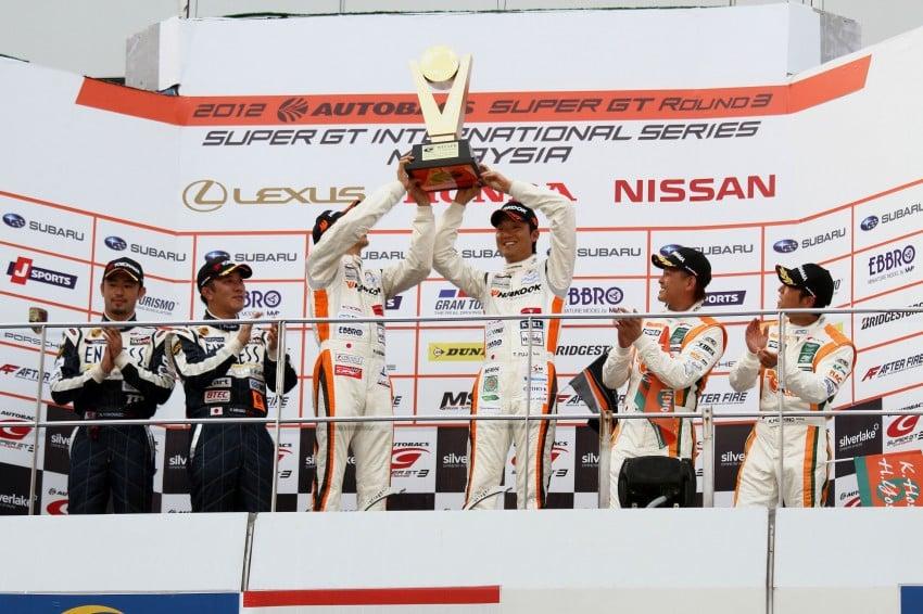 Autobacs Super GT 2012 Round 3: Weider HSV-010 and Hankook Porsche win from pole position Image #112001