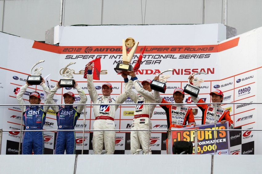 Autobacs Super GT 2012 Round 3: Weider HSV-010 and Hankook Porsche win from pole position Image #112000