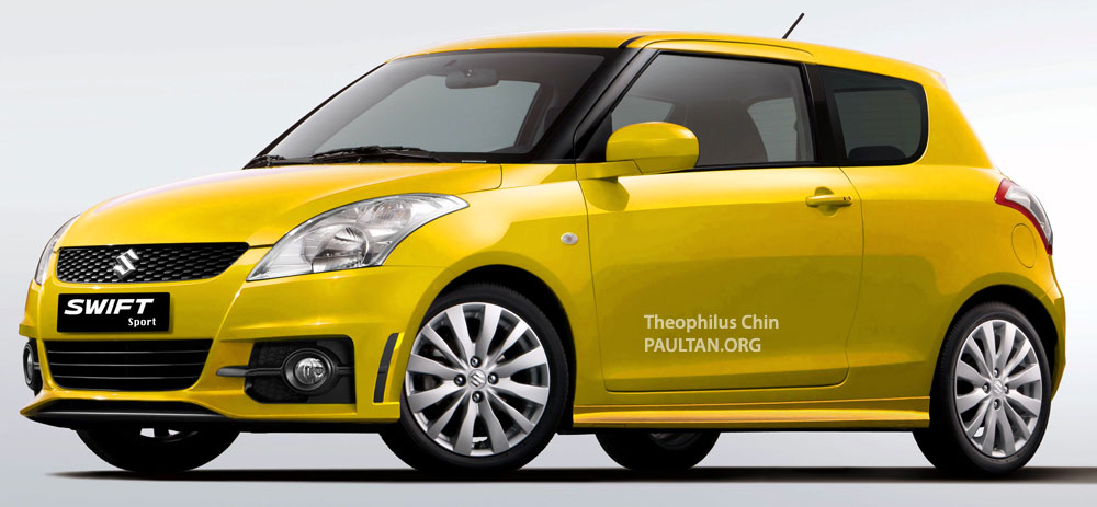 new suzuki swift unveiled larger in every dimension. Black Bedroom Furniture Sets. Home Design Ideas