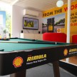 Truckers can relax with a game of pool and win prizes at the Shell Rimula Hardworking Truck
