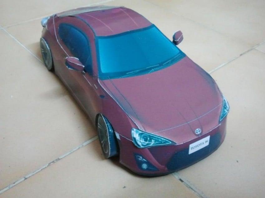 Toyota 86 assembled. Photo taken. Prize will be won. Image #104287
