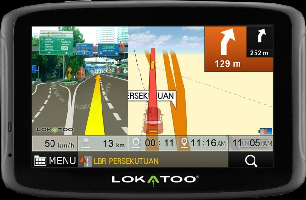 Lokatoo GPS navigation - now featuring Yellow Pages listings and TM