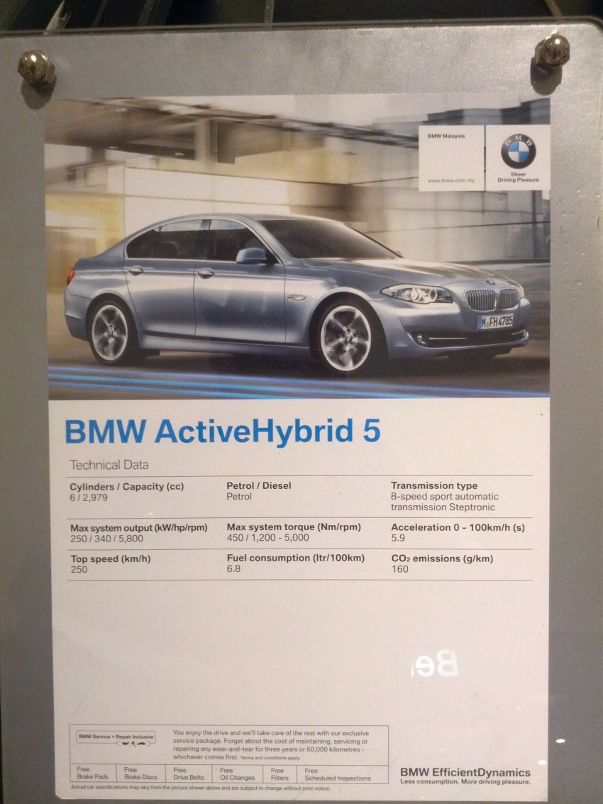 BMW ActiveHybrid 3 and ActiveHybrid 5 sedans officially launched – RM538,800 and RM648,800 Image #138196