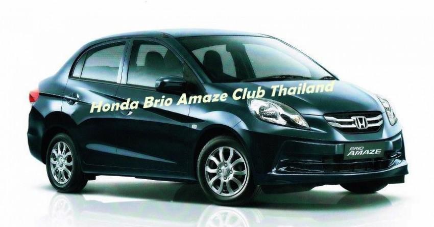 Honda Brio Amaze – new photos of sedan emerge Image #142432