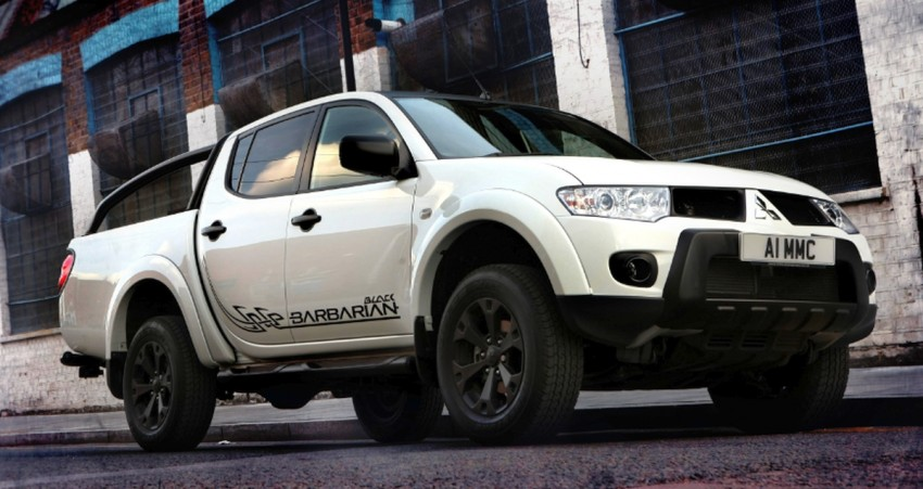 Mitsubishi L200 Barbarian Black – UK Triton gets dark Image #108387