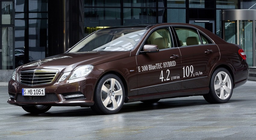 Mercedes-Benz E300 BlueTEC Hybrid introduced, in both saloon and estate form – E400 Hybrid also debuts Image #81222