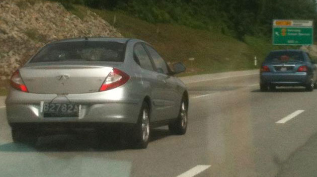 Chery A3 Sedan sighted on the PLUS highway Image #110103