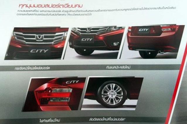 Honda City facelift brochure leaked ahead of Thai launch Image #69922