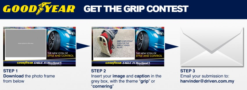 2 weeks remaining for you to win a set of Goodyear Eagle F1 Directional 5 tyres with the Get The Grip Contest! Image #137640