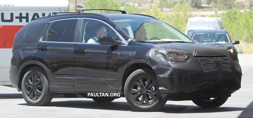 The Cur Honda Cr V Has Been With Us Since 2006 And It S Time For A New Generation In Question Spotted Undergoing Hot Weather