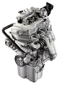 Daihatsu 2 cylinder direct injection turbo engine