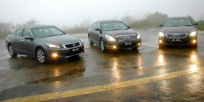 The Japanese D-segment trinity shootout: Honda Accord vs Nissan Teana vs Toyota Camry Image #153895
