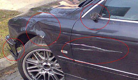 E39 Accident Damage