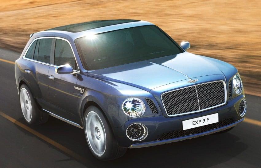 Bentley reveals powertrain options for its EXP 9 F concept Image #102270
