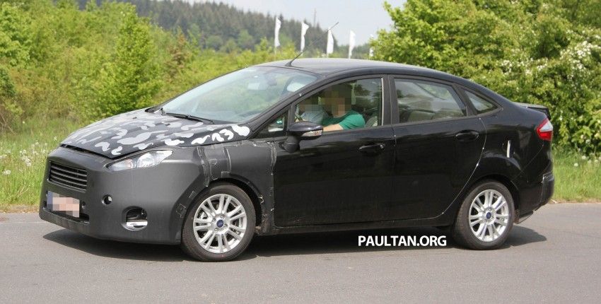 Ford Fiesta Sedan facelift sighted testing on public roads near the Nurburgring! Image #109428