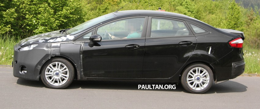 Ford Fiesta Sedan facelift sighted testing on public roads near the Nurburgring! Image #109427