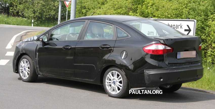 Ford Fiesta Sedan facelift sighted testing on public roads near the Nurburgring! Image #109426