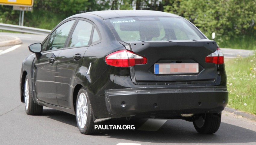 Ford Fiesta Sedan facelift sighted testing on public roads near the Nurburgring! Image #109425