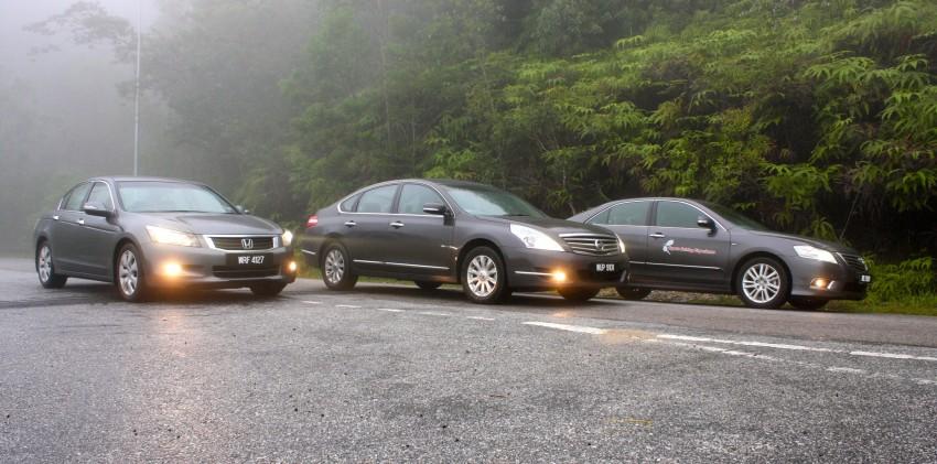 The Japanese D-segment trinity shootout: Honda Accord vs Nissan Teana vs Toyota Camry Image #153867