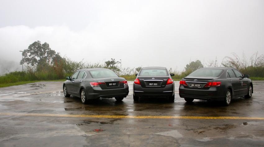 The Japanese D-segment trinity shootout: Honda Accord vs Nissan Teana vs Toyota Camry Image #153854