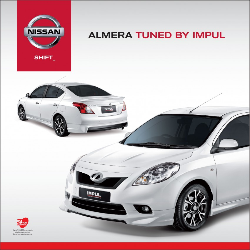 Nissan Almera Tuned by Impul open for booking, ETCM also announces a long list of optional kit Image #136155