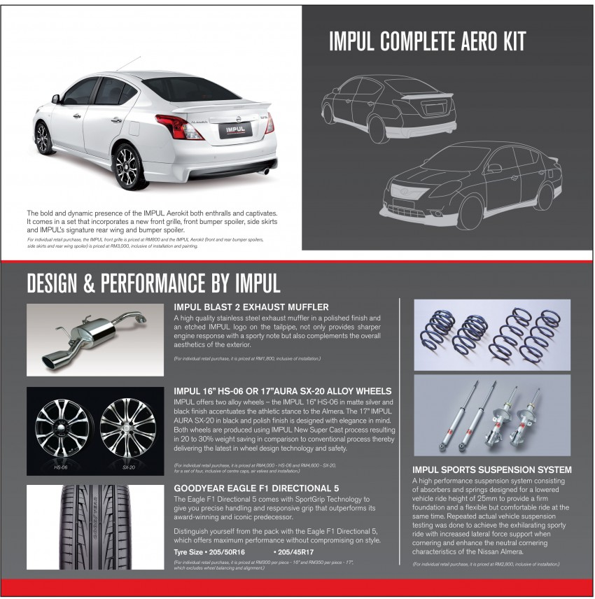 Nissan Almera Tuned by Impul open for booking, ETCM also announces a long list of optional kit Image #136156