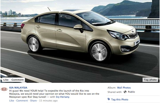 Kia Rio sighted in Malaysia again, Kia Malaysia looking for feedback on Facebook Image #115626
