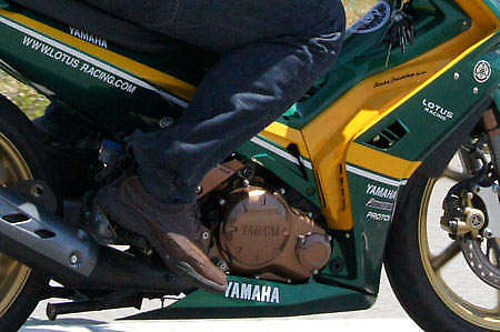 Spotted: big time Lotus Racing fan's motorcycle! Image #24202