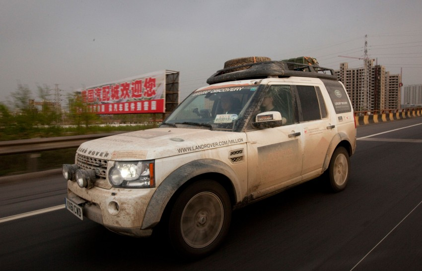 Land Rover Discovery drives from UK to China for charity Image #102866