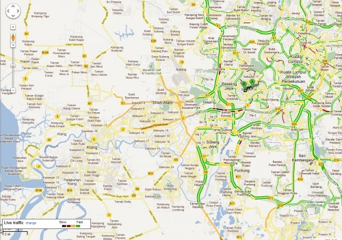 Google Maps now contains Traffic and Transit information - Bahasa ...