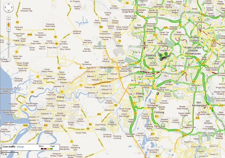 Google Maps now contains Traffic and Transit information – Bahasa Malaysia interface also introduced Image #96393