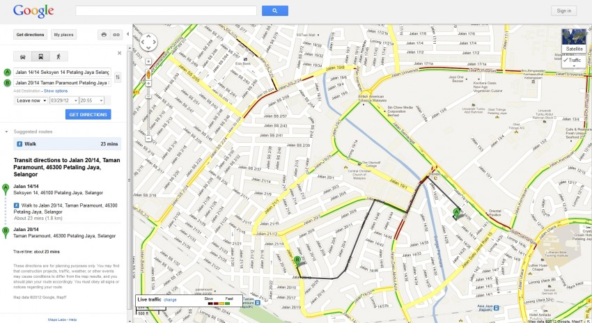 Google Maps now contains Traffic and Transit information – Bahasa Malaysia interface also introduced Image #96392
