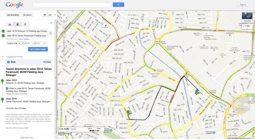 maps traffic and transit