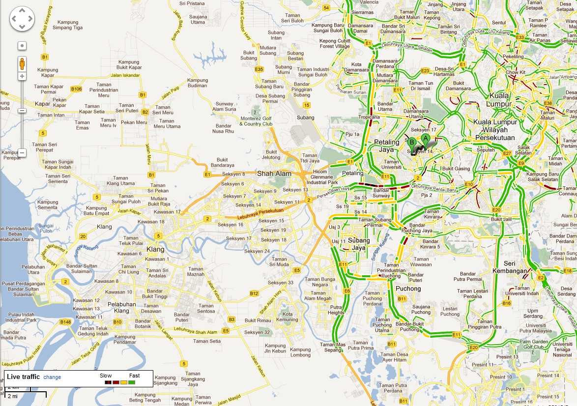 how to show traffic on google maps