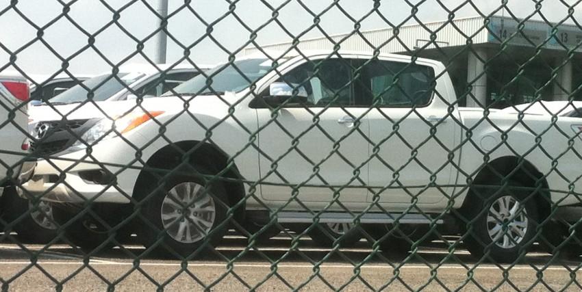 Mazda BT-50 pick-up truck sighted at Westport Image #113990