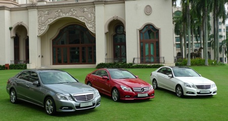 mercedes-benz launches the all-new w212 e-class sedan and coupe in