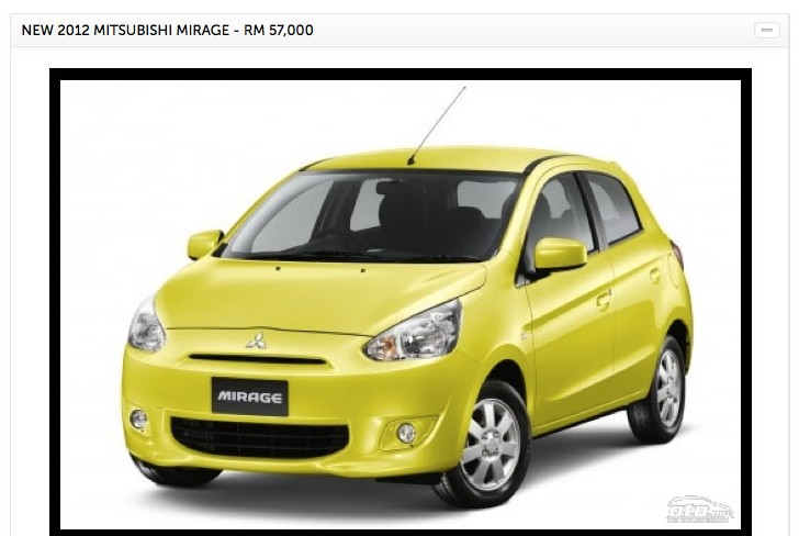 Mitsubishi Mirage spotted on oto.my – RM57k to 65k Image #133548