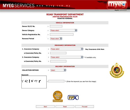 Renew Road Tax Online With Myeg Paultan Org