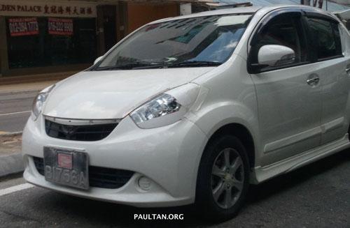 White 2011 Perodua Myvi SE snapped on Jalan Ipoh