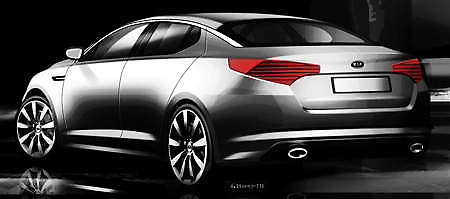 The Next Generation Kia Optima, Known As The Magentis In Some Markets, Will  Make Its World Debut At The New York Auto Show, Which Opens On 2nd April.