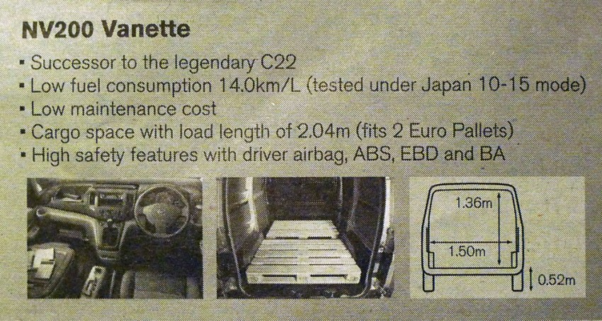 Nissan NV200 Vanette launched: successor to the C22 Image #88581