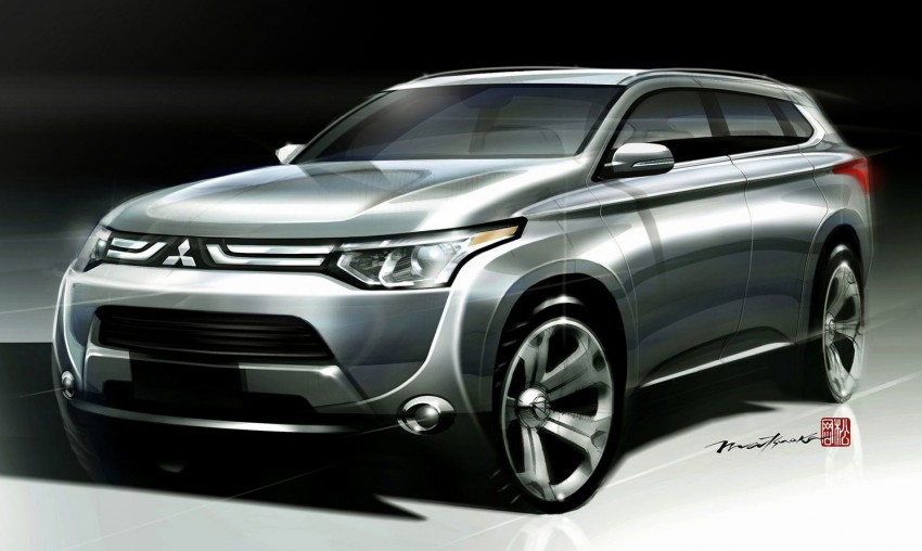 Mitsubishi to show Outlander Plug-in Hybrid EV at Paris – first 4WD electric car in production Image #113513